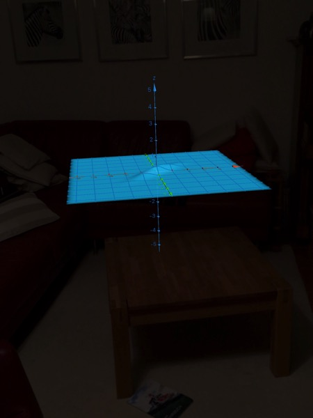 a bivariate Gaussian density function on my coffee table